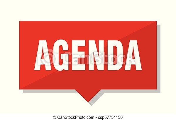 agenda red tag - csp57754150