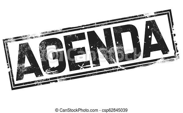 Agenda  word with black frame - csp62845039