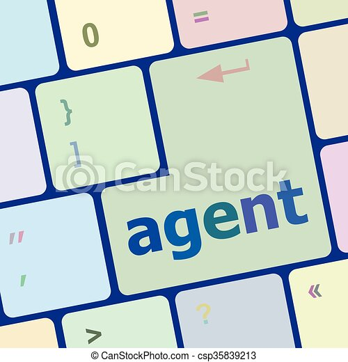 agent button on the computer keyboard vector illustration vector rh canstockphoto com keyboard clipart free keyboard clip art images