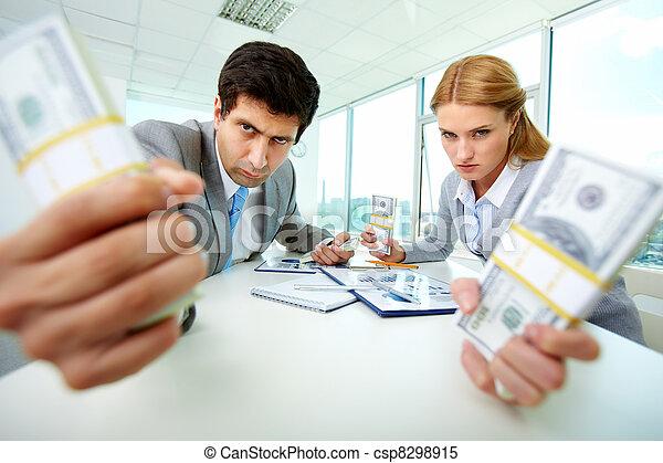 Aggressive accountants - csp8298915