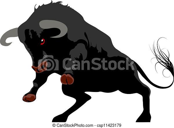 aggressive bull - csp11423179