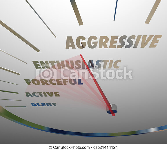 Aggressive Enthusiastic Forceful Active Speedometer Bold Speed - csp21414124