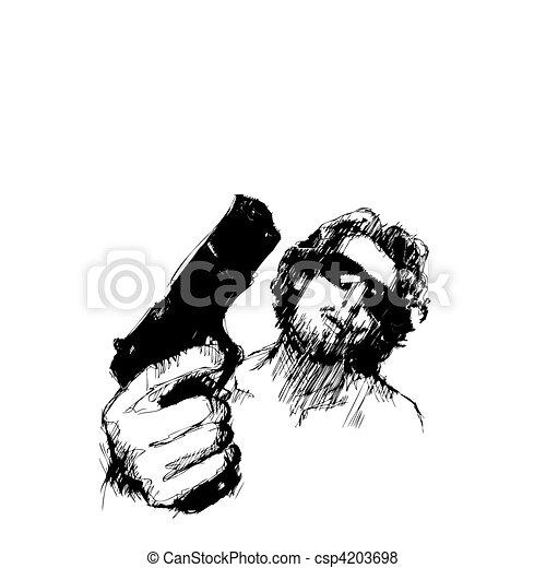 aggressive man - csp4203698