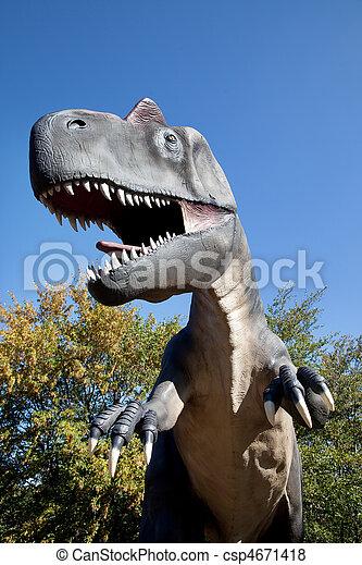 Aggressive T-Rex - csp4671418