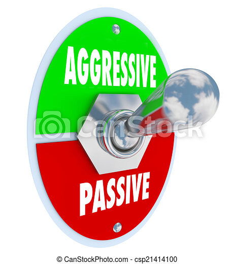 Aggressive Vs Passive Words Toggle Switch On Off Bold Determinat - csp21414100
