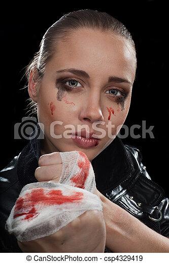 Aggressive woman - csp4329419