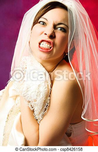 aggressive young bride - csp8426158