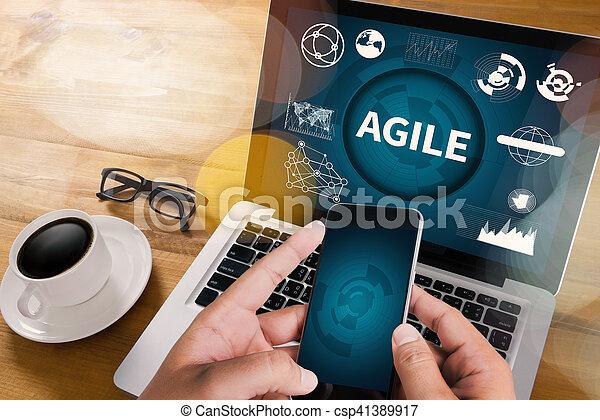 agilidade, conceito, ágil, rapidamente, nimble, rapidamente - csp41389917