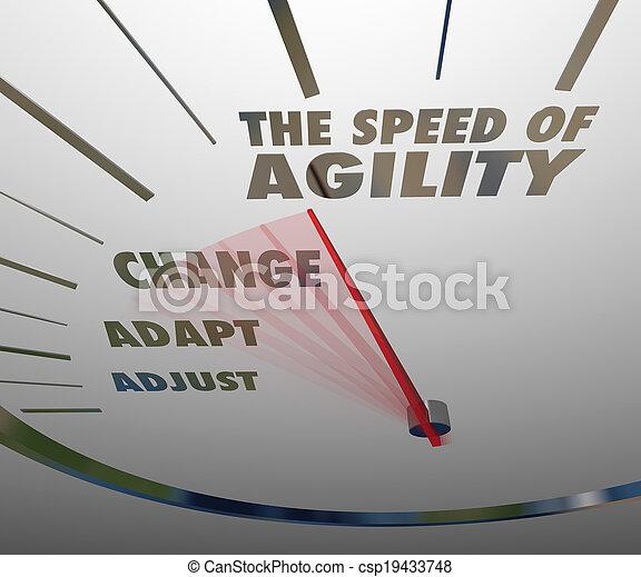 agilidade, velocímetro, adaptação, rapidamente, velocidade, mudança - csp19433748