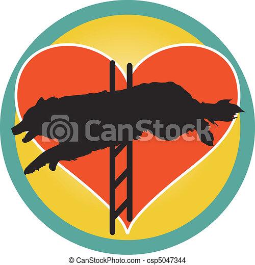 Agility Dog Heart - csp5047344