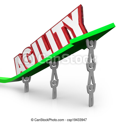 Agility Team Working Quickly Adapt Overcome Challenge - csp19433947