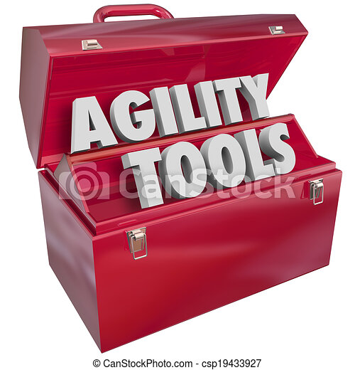 Agility Tools Words in Toolbox Change Adapt Ability  - csp19433927