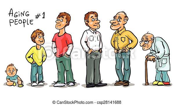 Aging people - set 1,  - csp28141688