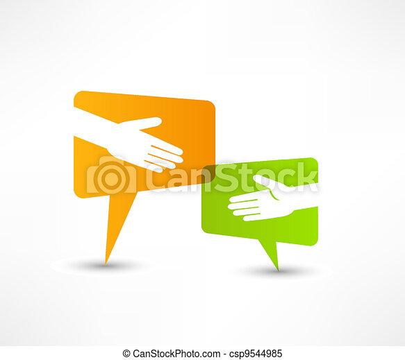 agitação mão - csp9544985