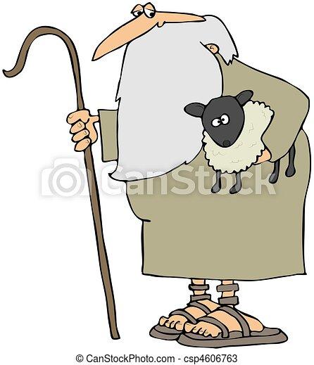 agneau, berger, tenue - csp4606763