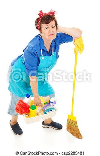 La señora de la limpieza, exhausta - csp2285481