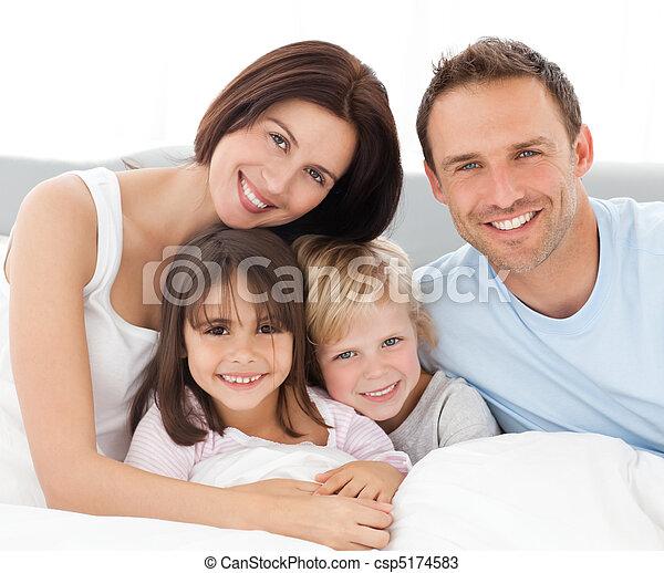agréable, famille, ensemble, séance - csp5174583