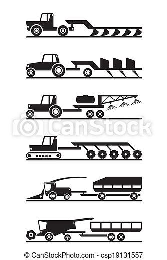 Icono de maquinaria agrícola - csp19131557