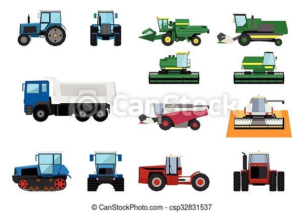 Una maquinaria agrícola - csp32831537