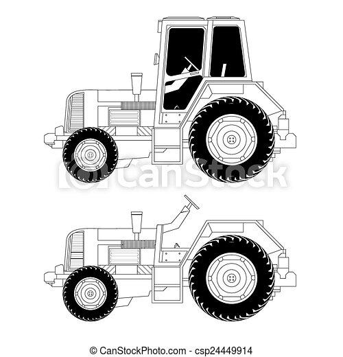 Tractor de maquinaria agrícola - csp24449914