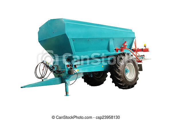 Un remolque agrícola - csp23958130