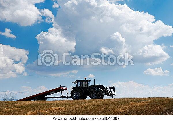 tractor y remolque agrícola - csp2844387