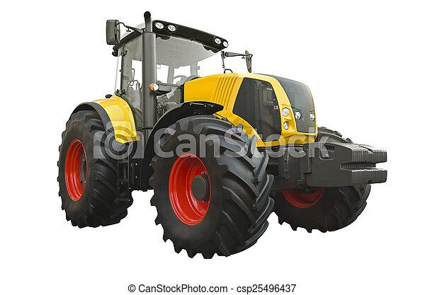 Un tractor agrícola - csp25496437