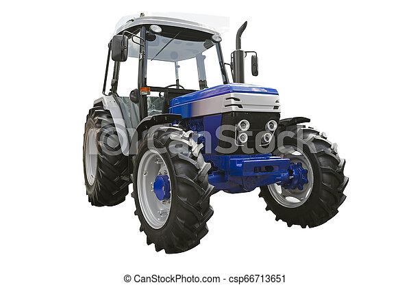 Un tractor agrícola - csp66713651