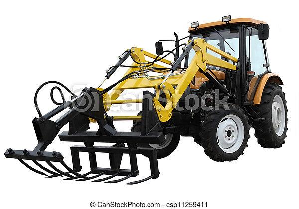 Un tractor agrícola - csp11259411