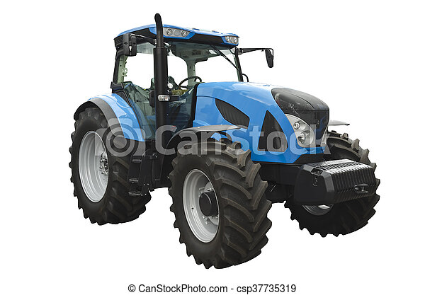 Un tractor agrícola - csp37735319