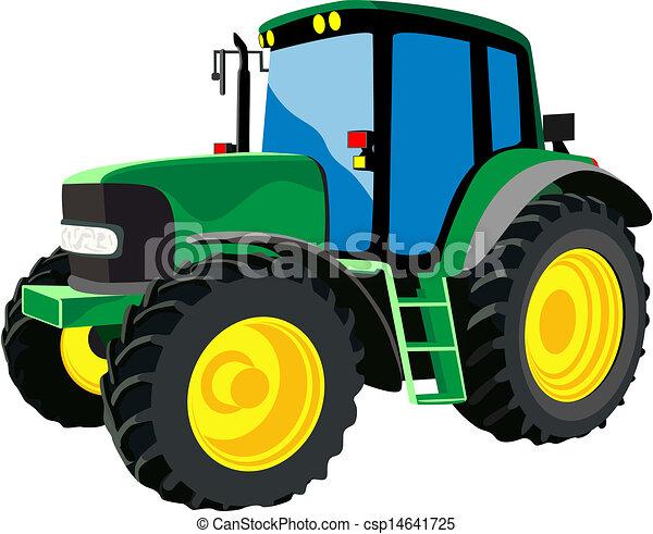 Un tractor agrícola verde - csp14641725