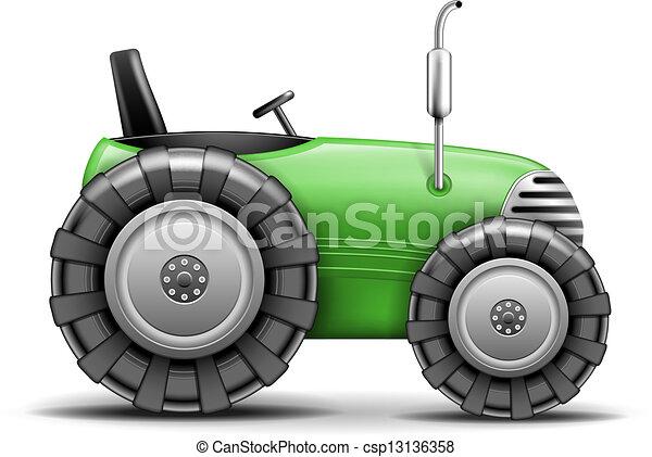 agrícola, verde, trator - csp13136358