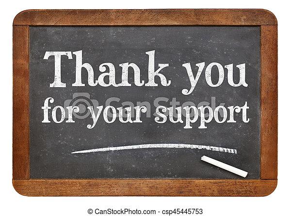 Gracias por su signo de apoyo - csp45445753
