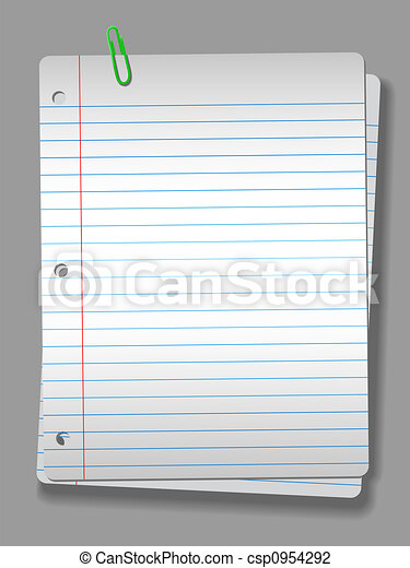 agrafe, cahier, projecteur, papier, fond, 2, pages - csp0954292