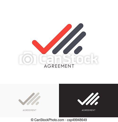 agreement checkmark logo hand with check mark or tick symbol rh canstockphoto com check mark logo silver check mark logo free