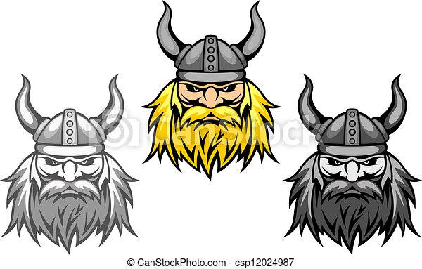 Agressive viking warriors - csp12024987