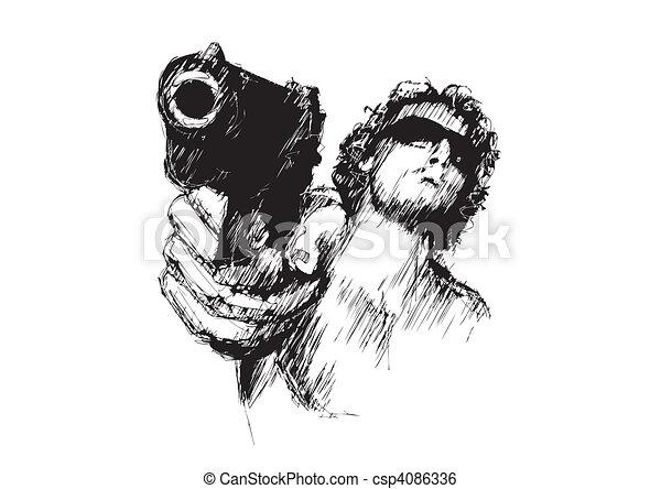 agresywny, 2, człowiek - csp4086336