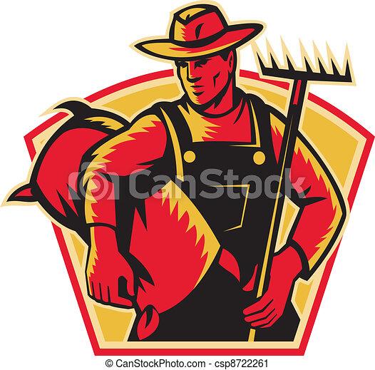 agricultor, rak, trabalhador agrícola - csp8722261