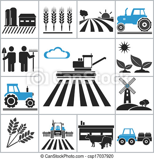 agricultura, ícones - csp17037920