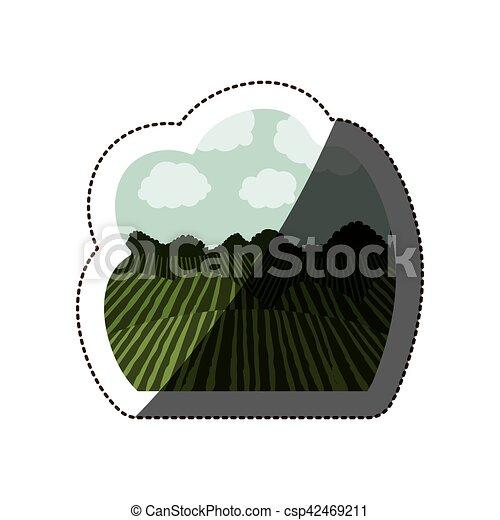 agricultura, desenho, paisagem - csp42469211