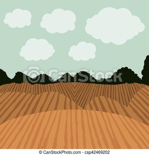 agricultura, desenho, paisagem - csp42469202