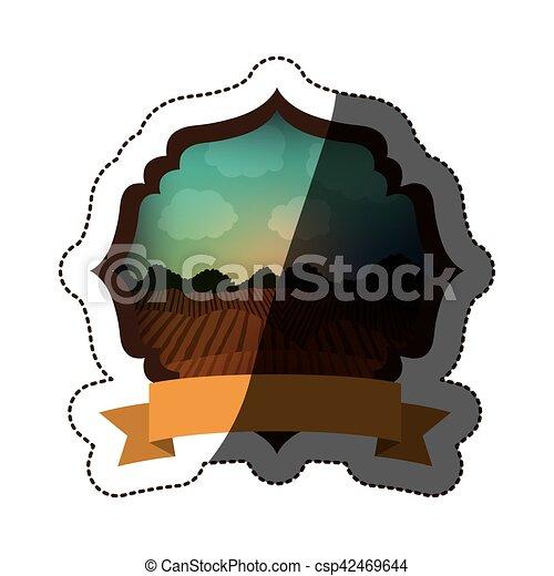 agricultura, desenho, paisagem - csp42469644