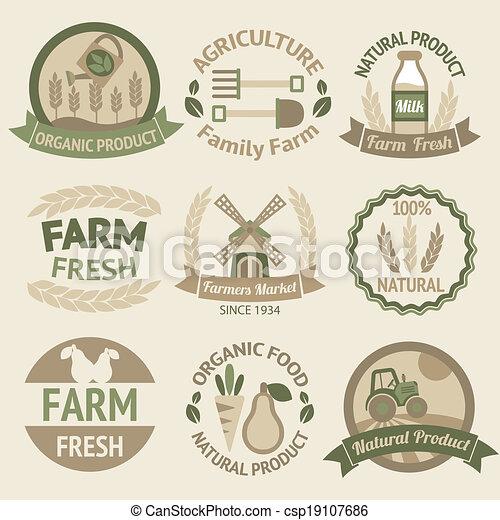 La agricultura y las etiquetas de agricultura - csp19107686