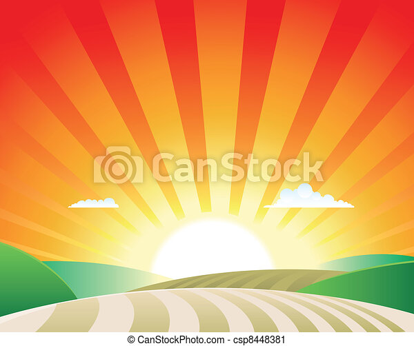 agricultura, paisagem - csp8448381