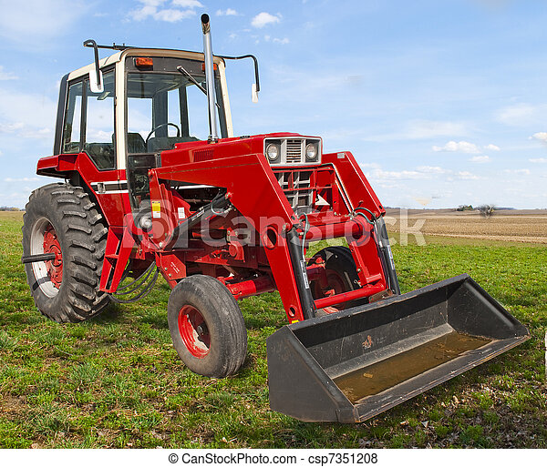 Farming with old Red - csp7351208