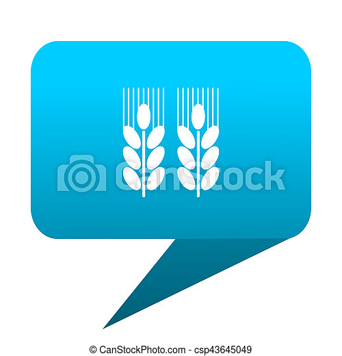 agricultural blue bubble icon - csp43645049