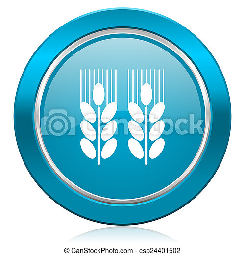 agricultural blue icon  - csp24401502