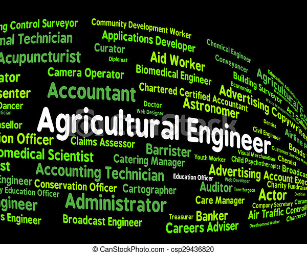 Agricultural Engineer Represents Work Hiring And Position - csp29436820