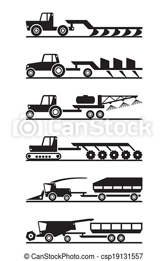 Agricultural machinery icon set - csp19131557