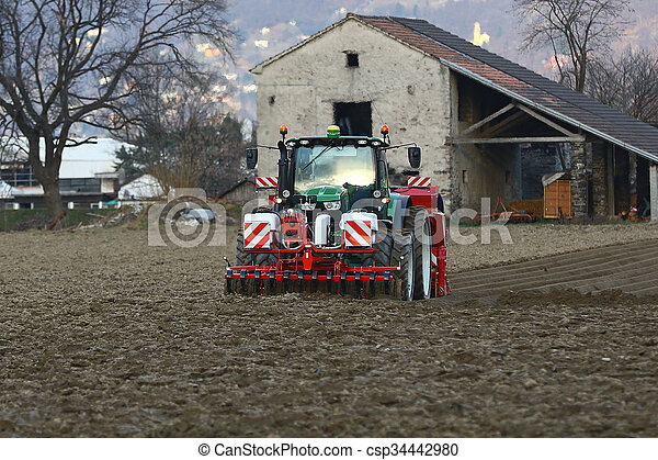 Agricultural tractor - csp34442980